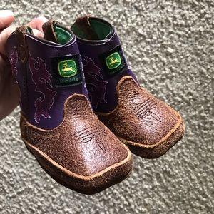 Infant Girl John Deere Soft Boots